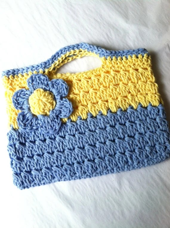 Child Purse, Crochet Child Purse with Flower, Crochet Purse, Summer Purse, Purse, Purse with Flower