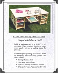 KEEPSAKE QUILTING Sewing Table Plans for Woodworking By