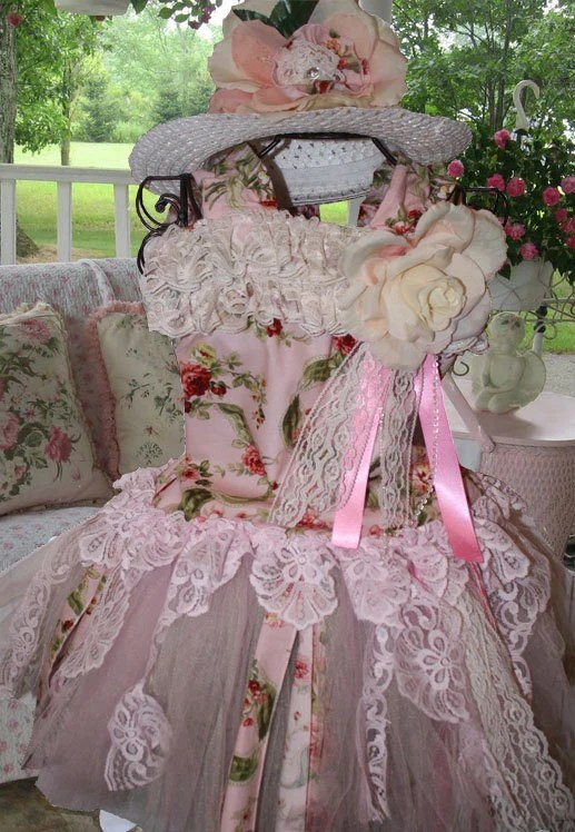 Shabby chic vintage lace tutu flower girl dress great for