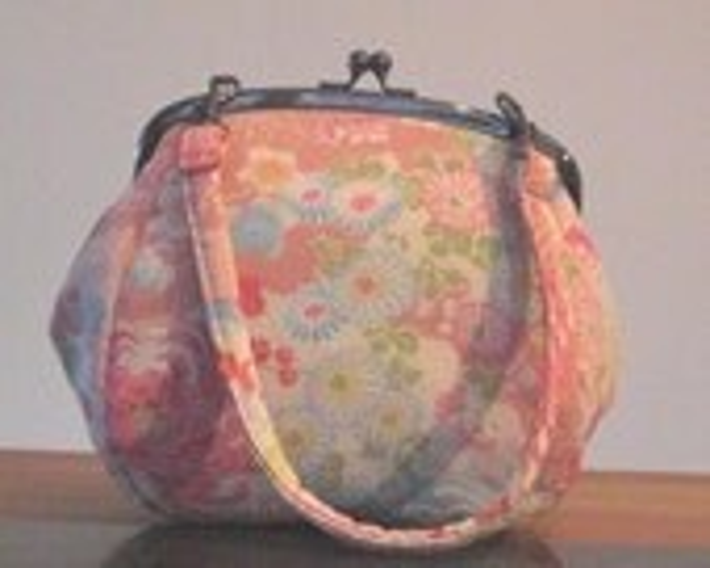 Kimono Chirimen Clutch - Pink - MiYaCreations