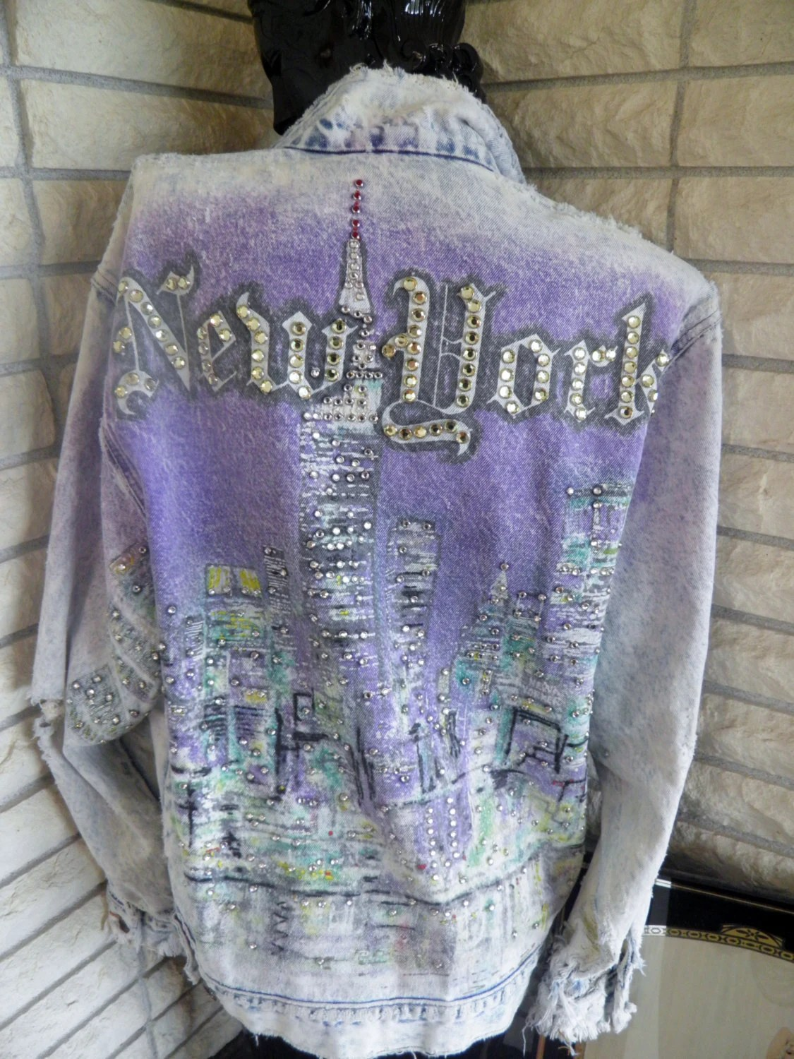 Vintage Tony Alamo Denim Jean Jacket New by veryfrenchbydesign