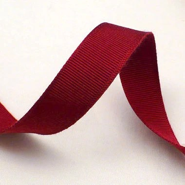 "16mm 5/8"" Burgundy Wine Red Grosgrain Ribbon Burgundy 1960s Vintage Millinery Sewing Craft Supply - SubterraneanSupply"