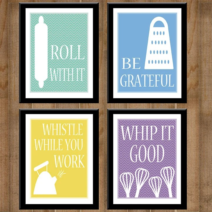 Items similar to Kitchen Collection  Set of Four 8x10s  PRINTABLE DIGITAL  Kitchen Art