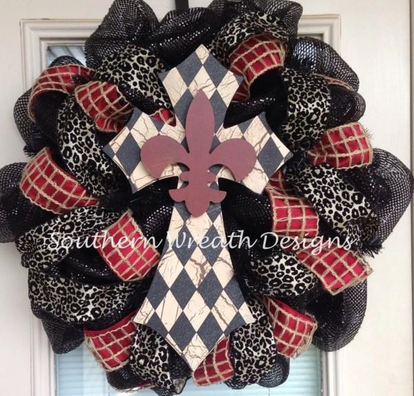 Mesh Cross Wreaths for Front Door