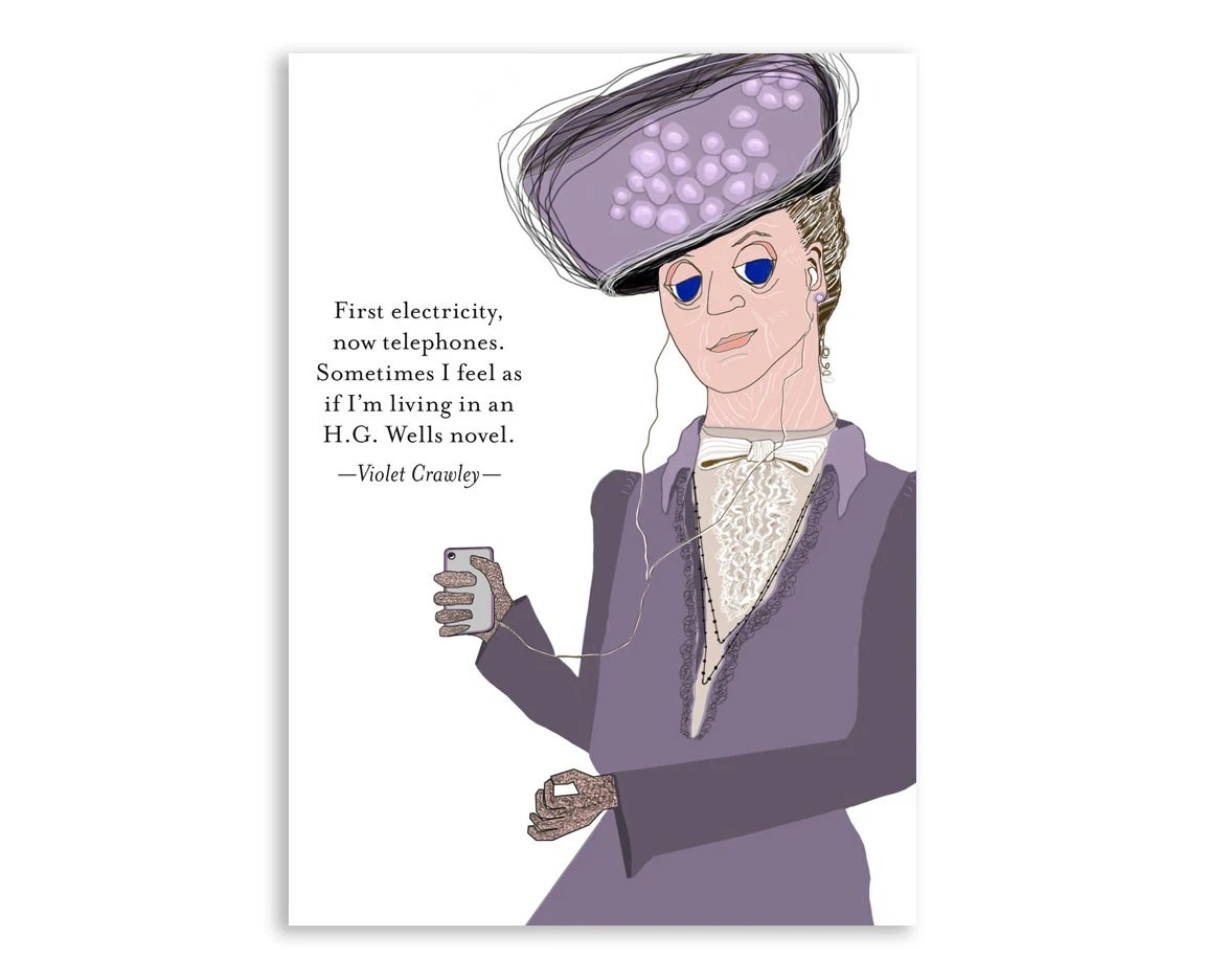 Downton Abbey Time Machine Notecard: Lady Violet Crawley