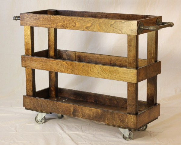 Wood Kitchen Cart With Casters And Industrial Yoderswoodedlot