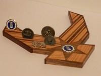 24 AF Emblem Challenge Coin Holder by WoodSimplyMade on Etsy