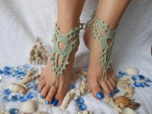 Beach Wedding Barefoot Sandal Crochet