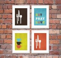 Modern Kitchen Wall Art Print Set Inspirational by ...