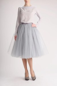 Grey tulle skirt Handmade long skirt Handmade tutu skirt