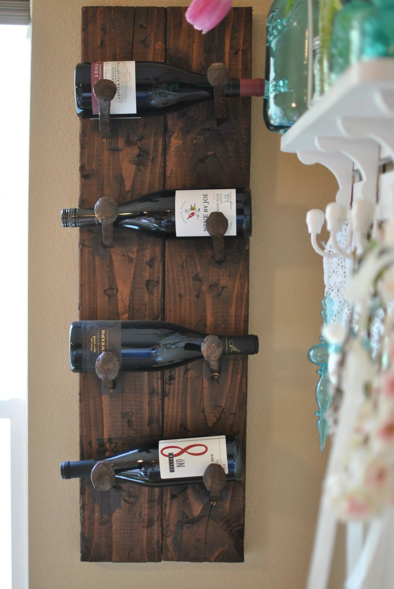 Items similar to Railroad Spike Wine Rack on Etsy