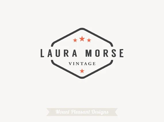 Logo design Premade logo customizable for small business or