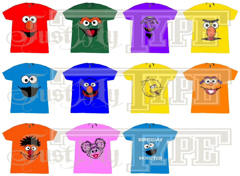 Sesame Street Tshirt Character