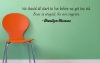 MARILYN MONROE QUOTE decal sticker wall beautiful words nice