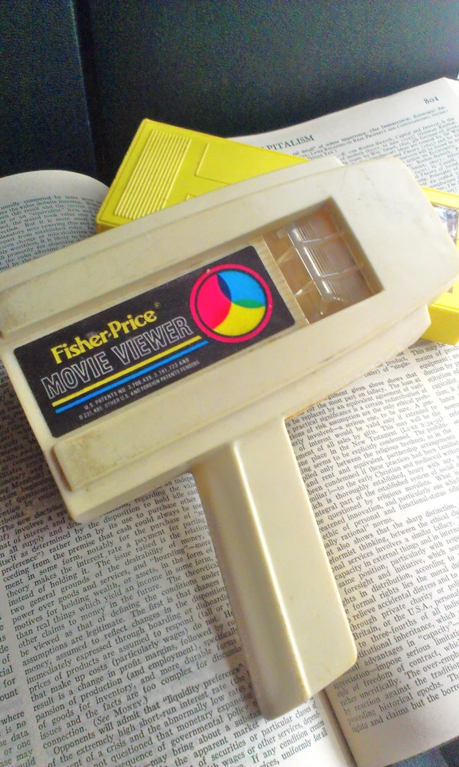 Fisher Price Movie Viewer and 2 Disney Cassettes 70s vintage
