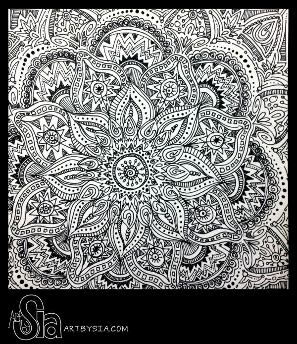 Abstract Zentangle Doodle Art