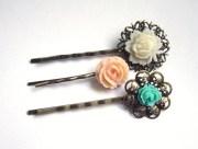 floral bobby pin set hair pins
