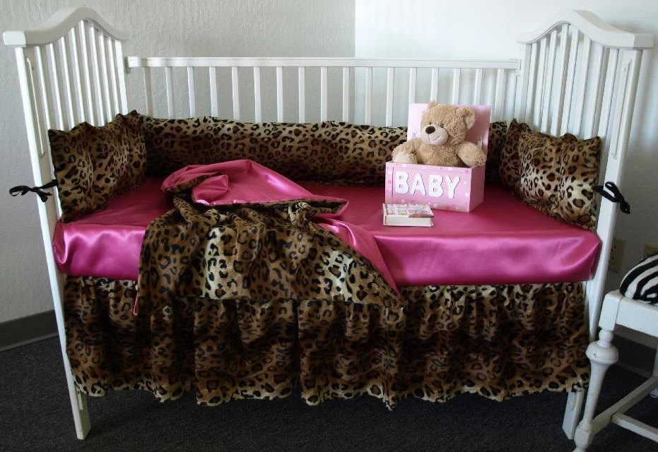 Leopard Print Crib Bedding Set By Sewcustomcorporation On Etsy