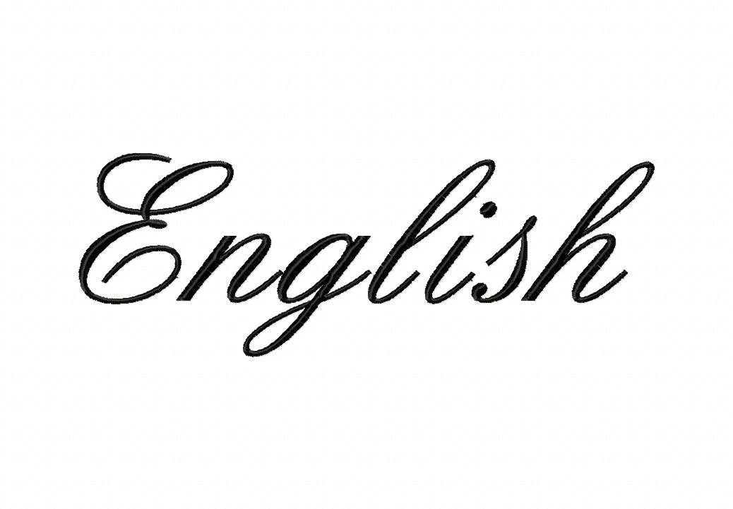 INSTANT DOWNLOAD English Script Font Machine Embroidery