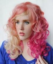 strawberry fizz wig pastel pink