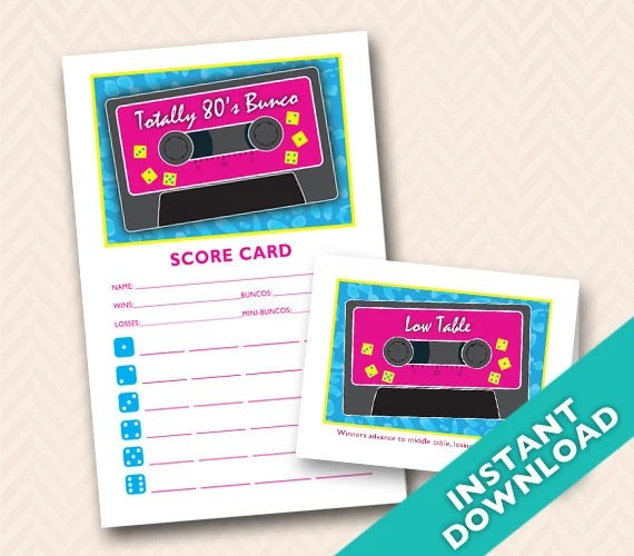 Downloadable 80s Themed P...