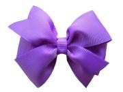 4 lilac hair bow purple