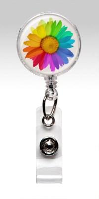 Retractable ID Badge Holder Flower Nurse by ...
