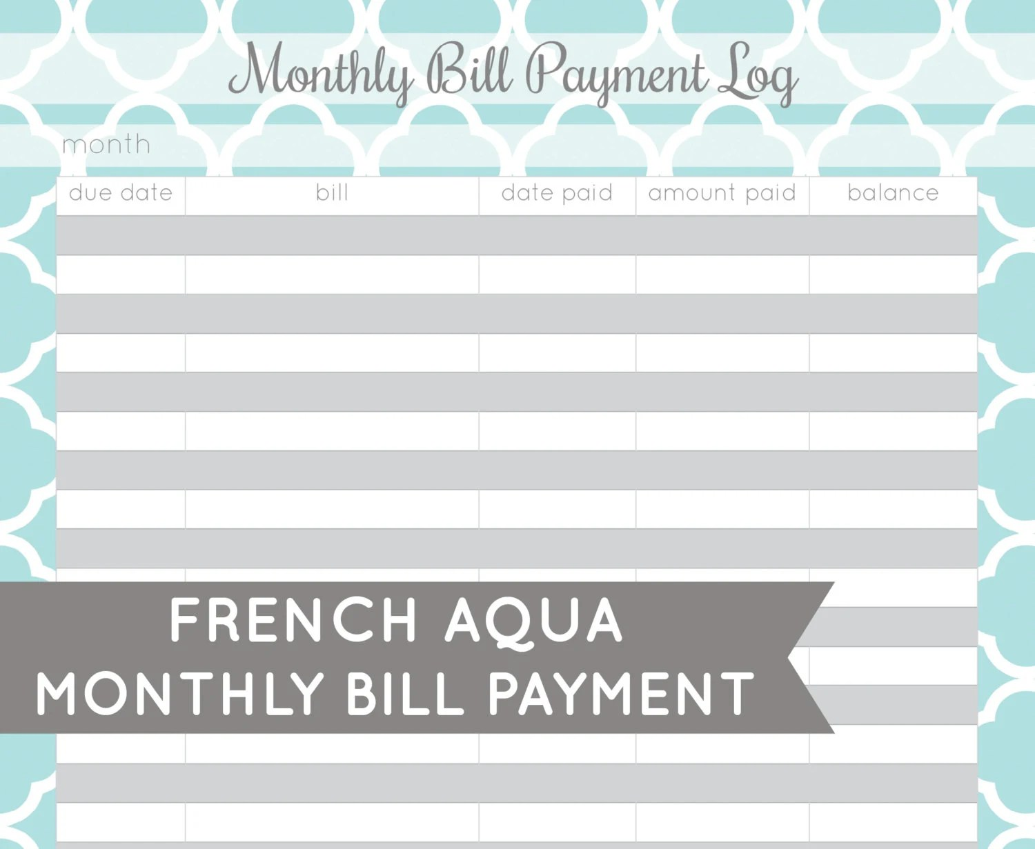Search Results For Monthly Bill Organizer Printable