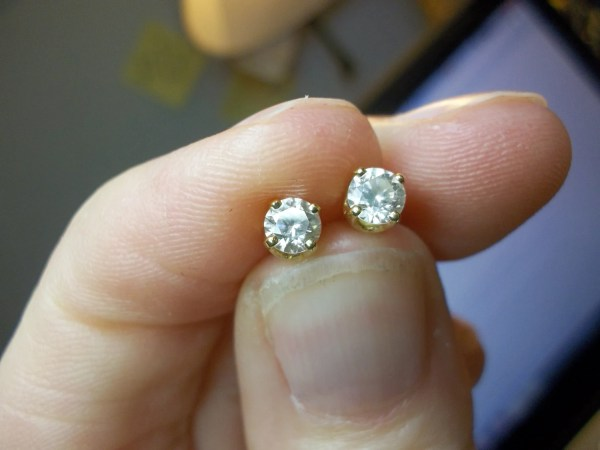 Reserved Pg Estate Quarter Carat Diamond Stud Earrings 14kt