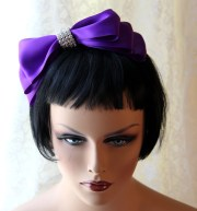 items similar purple hair bow