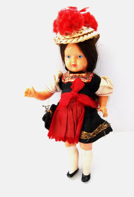 Items similar to German Black Forest Doll  Vintage