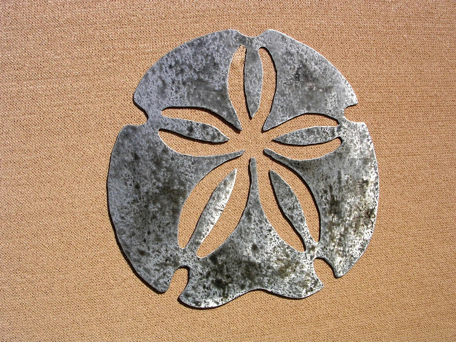Sand Dollar Art Large Outdoor Metal Wall Art By