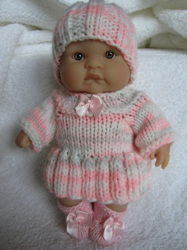 Knit Doll Clothes 8 Chubby Berenguer Baby