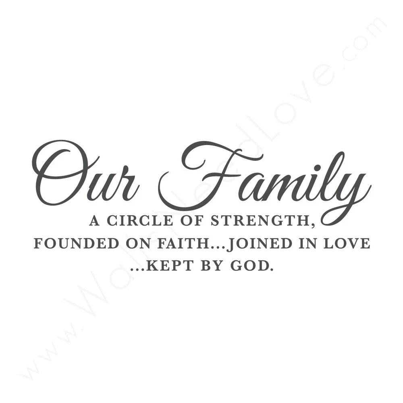 Our Family: Faith Love God Quote