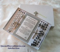 Queen of Heaven Wedding Rosary Set Bridal Rosaries Pearl
