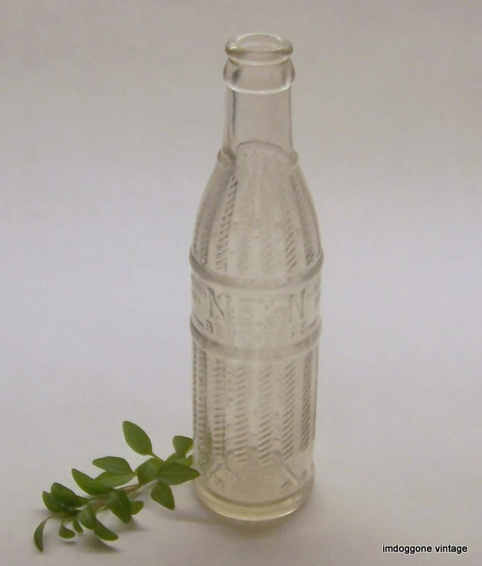 NEHI Vintage Soda Bottle 1920s Clear Antique Bottle Columbus