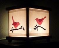 Pink Bird Night Light Lamp Bird on a Branch