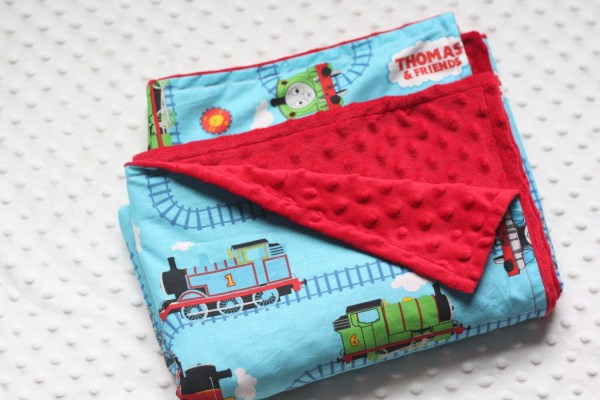 Thomas Train Blanket With Minky Flannel Toddler