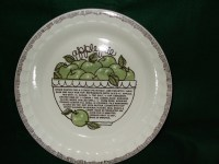 Royal China by Jeannette Apple Pie Plate