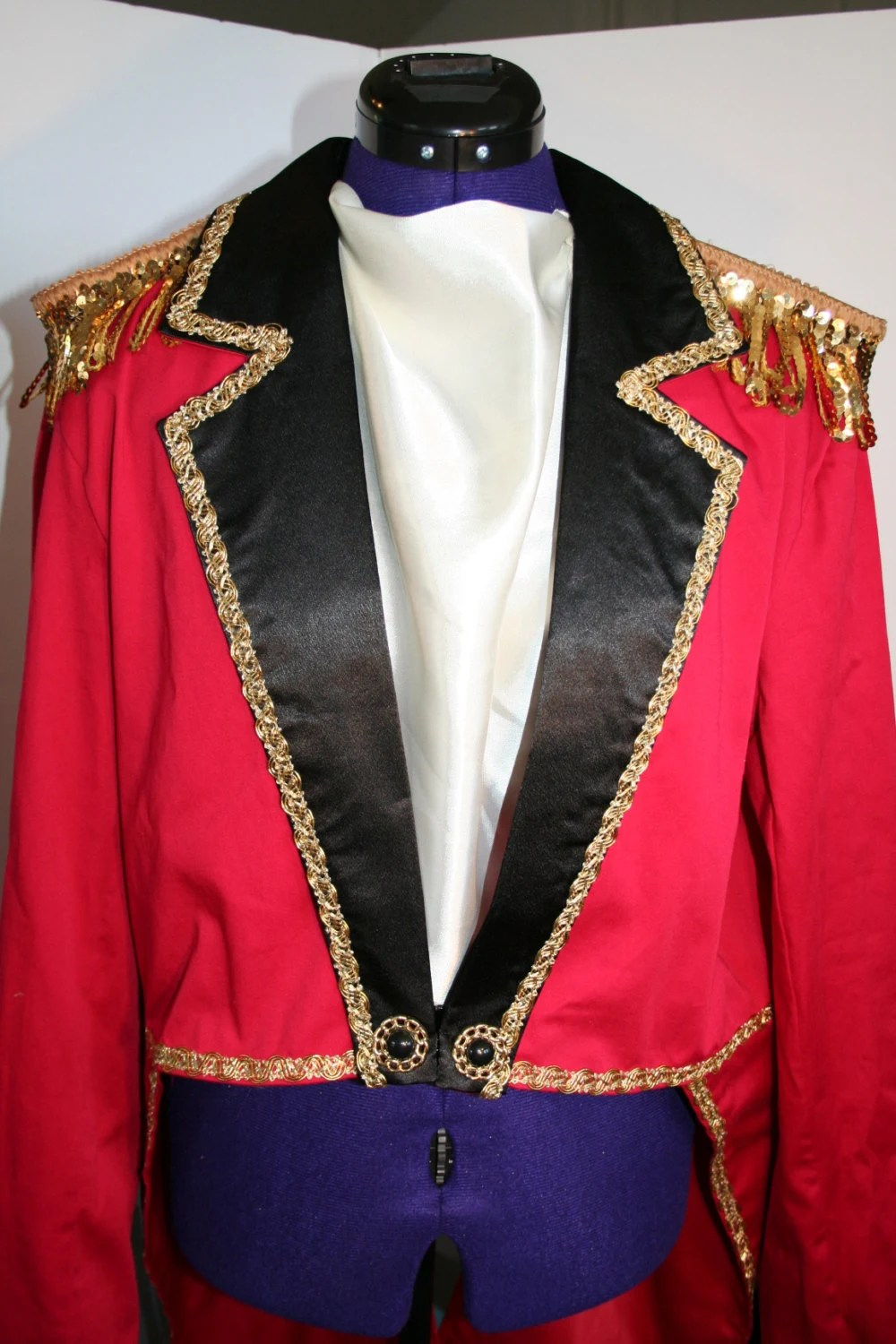 Adult Ringmaster Circus Tailcoat Jacket Costume New Years