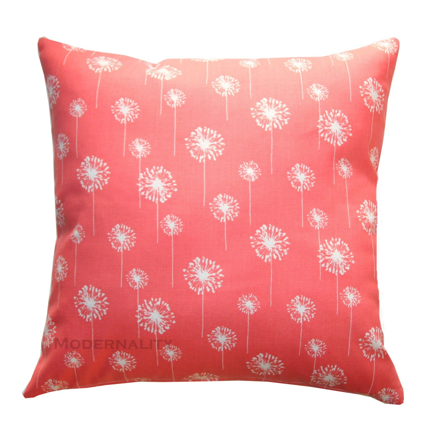 Coral Accent Pillows Coral Small Dandelion Pillow Cover
