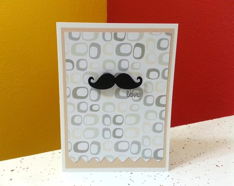 Mustache Card, Love Card, Card for Men, Moustache Card, Macho Man Card, Stache Card, Male Card, Simple Mustache Card, Moustache Love for Men