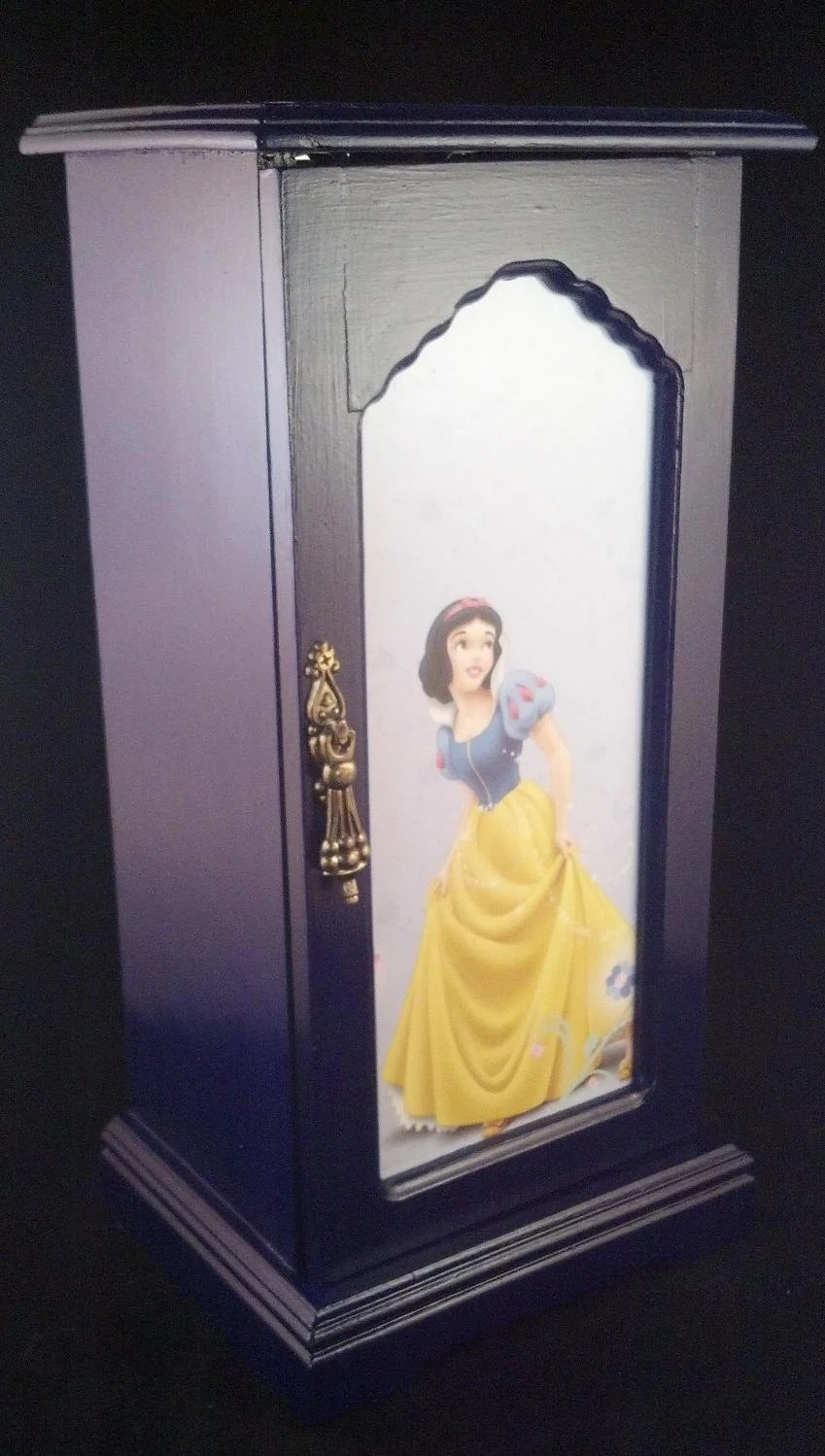 Items Similar To Blue Snow White Upcycled Jewelry Box On Etsy