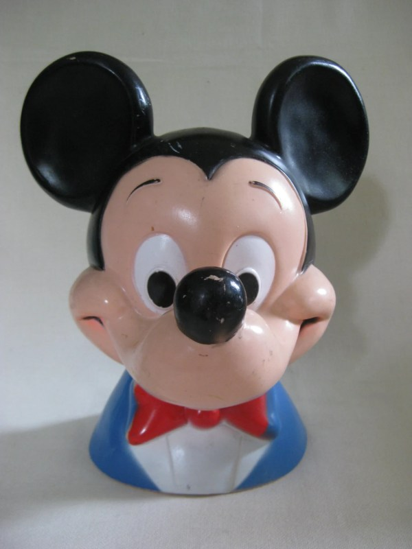 Vintage Large Mickey Mouse Bank Vintagebythepound