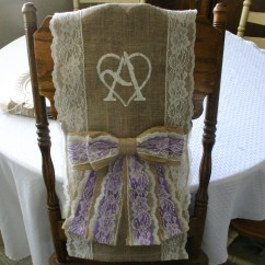 Wedding Chair Sash Loveseat And Set Two Bride Groom Burlap Cover