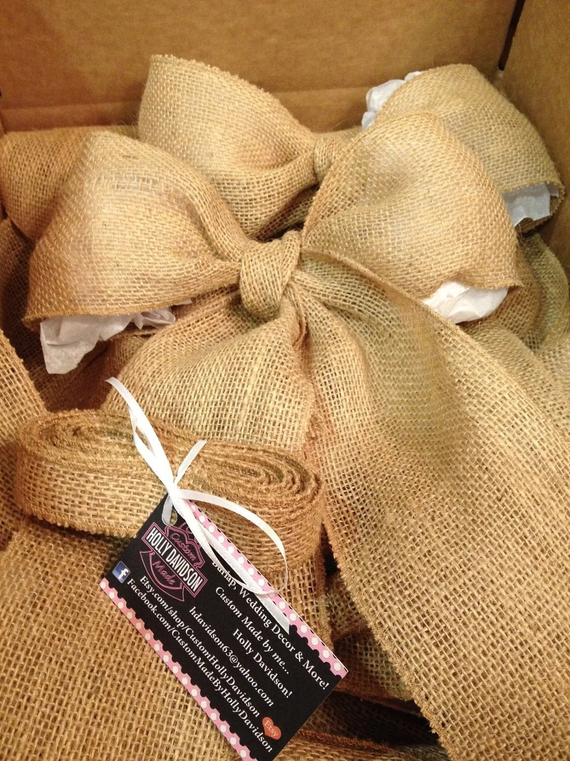 burlap chair covers wedding wooden circle bow set of 10 bows party