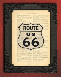 Route 66 wall art route 66 decor motorcycle art