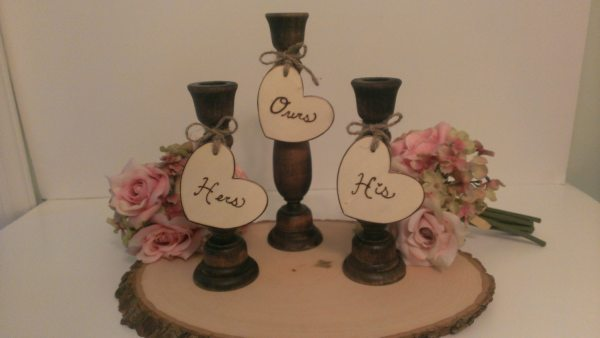 Rustic Unity Candle Holders Country Wedding