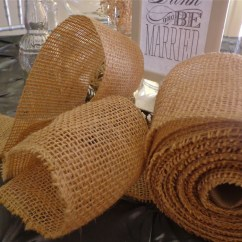 Burlap Chair Sashes Canada Revolving Armchair Wide Ribbon Natural Color 10 Yard Roll From