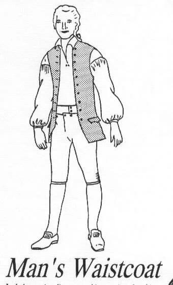 CWSSM05 1811 1820s Men's Regency Era Waistcoat by